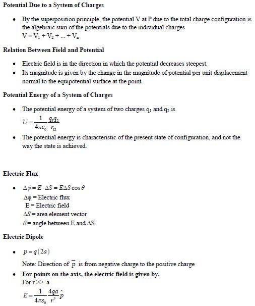 UPSEE Electrostatics concepts 2