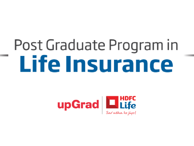 Enroll today to begin your career with HDFC Life, India's leading private insurance company