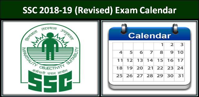ssc 2018 19 exam calendar
