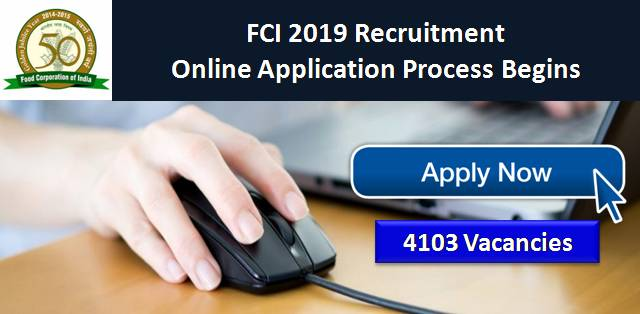 FCI 2019 Recruitment Application Process Begins