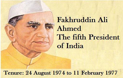 President Fakhrudin Ali Ahmed