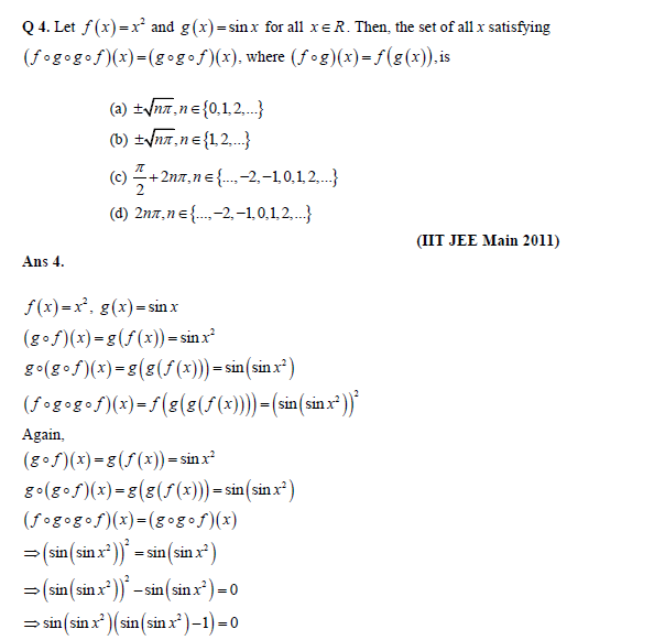Iit Jee Main Solved Practice Paper Relations And Functions. Question On Functions. Worksheet. 1 1 Practice Worksheet Relations And Functions Answers At Clickcart.co