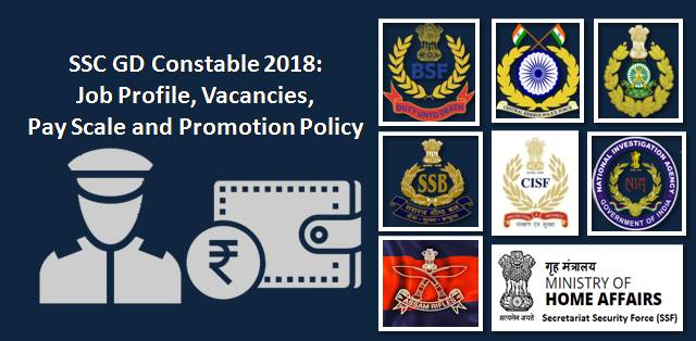 SSC GD Constable Job Profile, Vacancies, Pay Scale and Promotion Policy