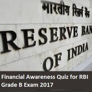 GK quiz for RBI Grade B