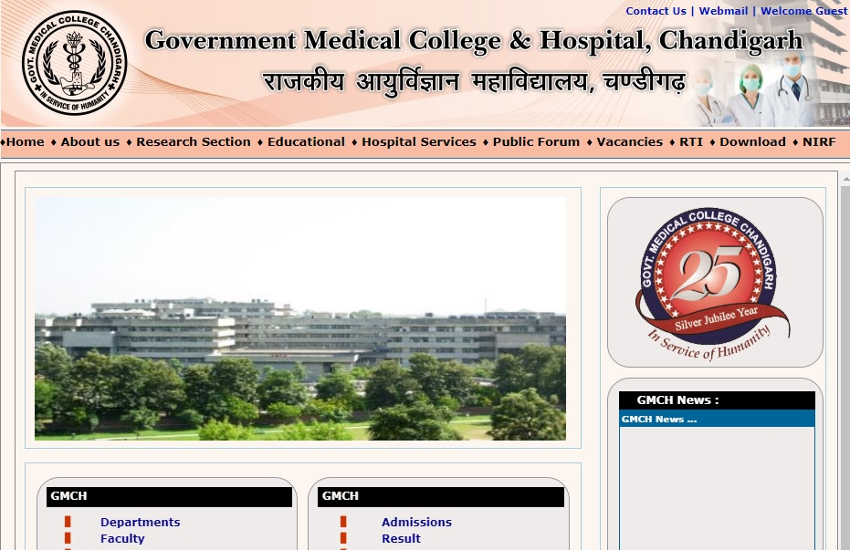 GMCH, Chandigarh Recruitment 2019
