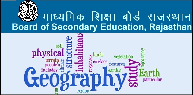 model test paper for Rajasthan Board Class 12 Geography