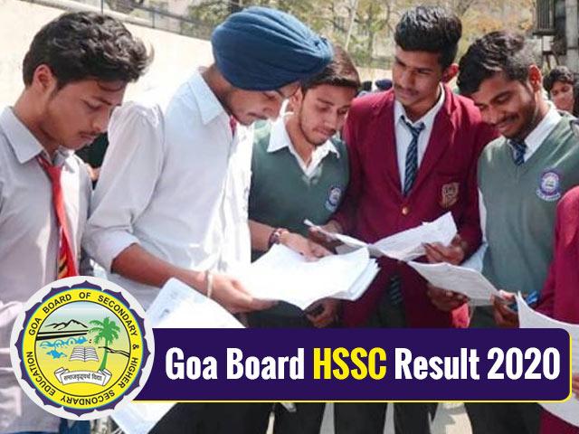 Goa Board HSSC Result 2020