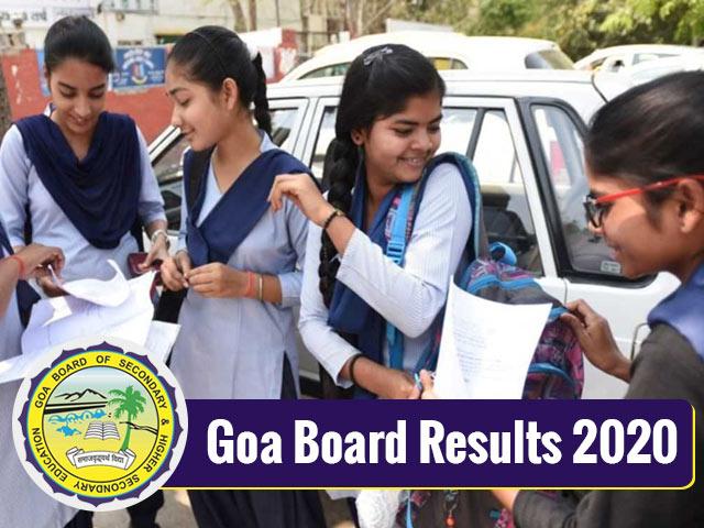 Goa Board Result 2020