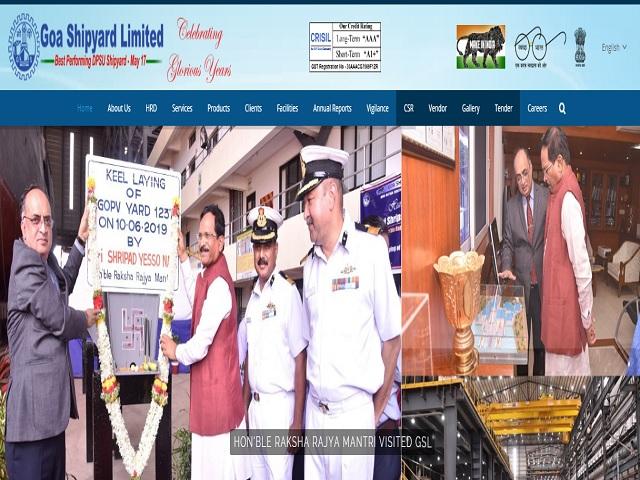 Goa Shipyard Limited Recruitment 2019
