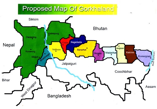 Gorkhaland map