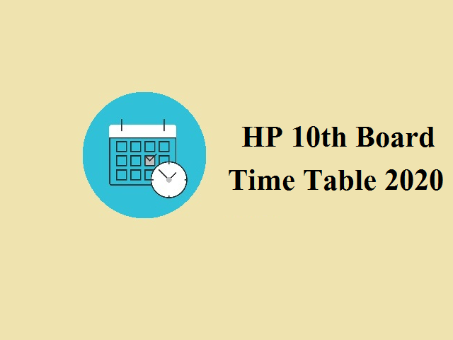 HP 10th Board Time Table