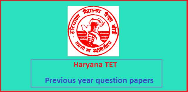 HTET previous year question papers pdf-Level-1,2 and 3 PRT