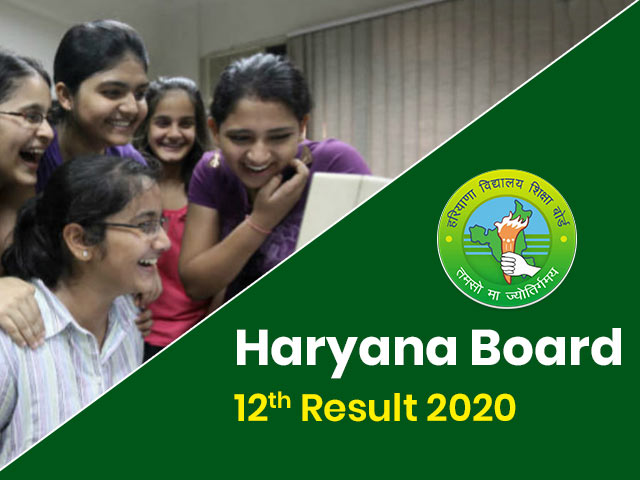 Haryana Board 12th Result 2020