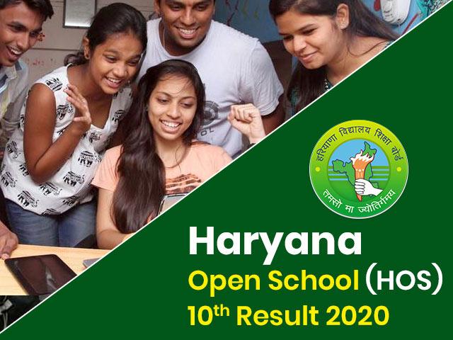 Haryana Open School (HOS) 10th Result 2020
