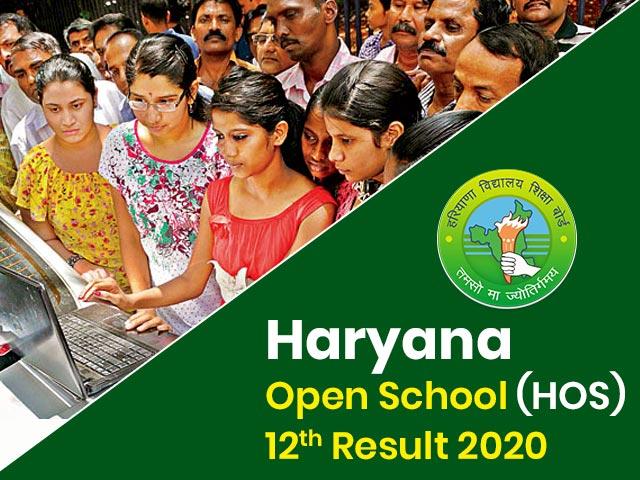 Haryana Open School (HOS) 12th Result 2020
