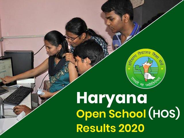 Haryana Open School (HOS) Result 2020