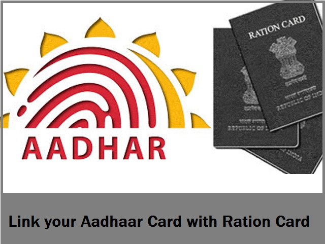 Link aadhaar to ration cards
