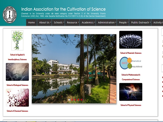 Indian Association for the Cultivation of Science (IACS) Research Associate Posts 2019