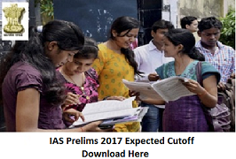 IAS Prelims 2017 Expected Cutoff Marks