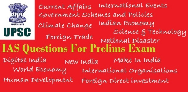 IAS Questions for Prelims 23 to 29 September 2017