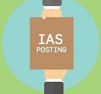Posting of IAS