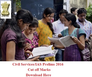 IAS Prelims 2016 cut off list
