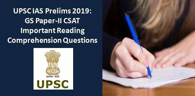 UPSC IAS Prelims 2019: GS Paper-II CSAT Important Reading