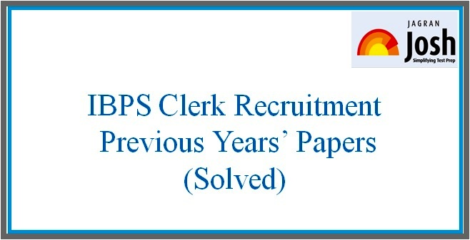 Ibps Clerk Previous Question Paper With Answers Pdf