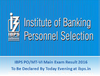 IBPS-PO-2016-Main-Exam-Result