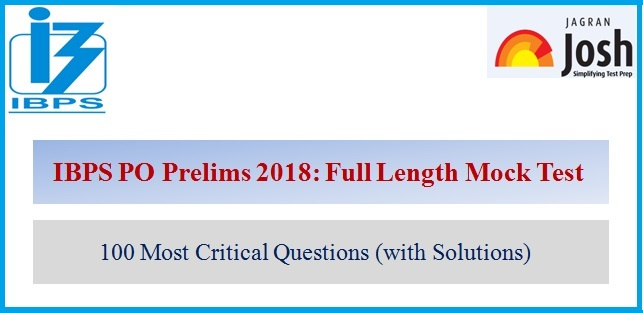 IBPS PO Prelims 2018: Important questions expected in the exam