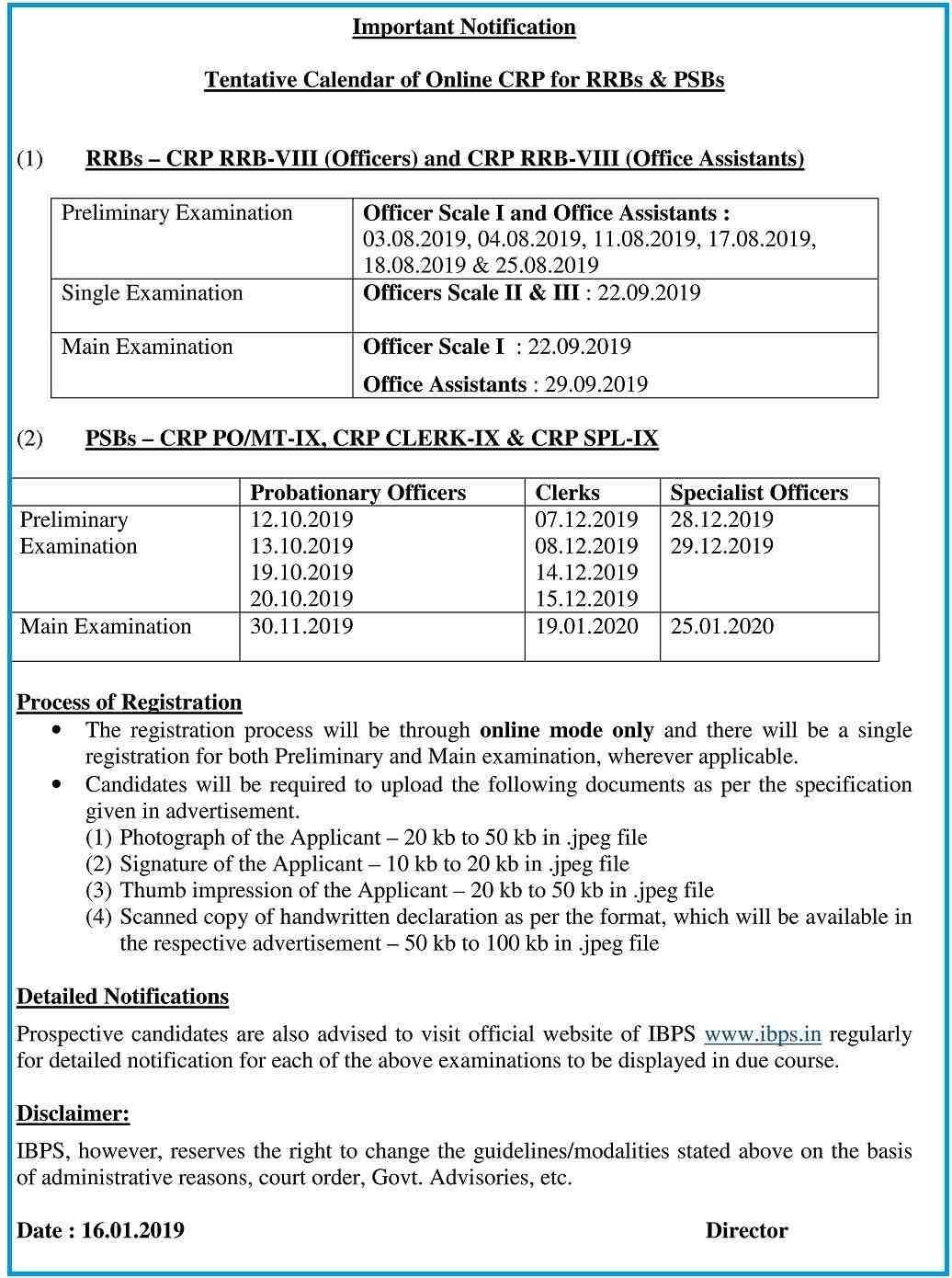 IBPS Exam Calendar 2019 – 20: Complete Schedule