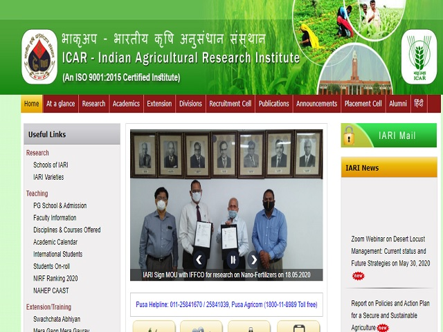 ICAR IARI Recruitment 2018