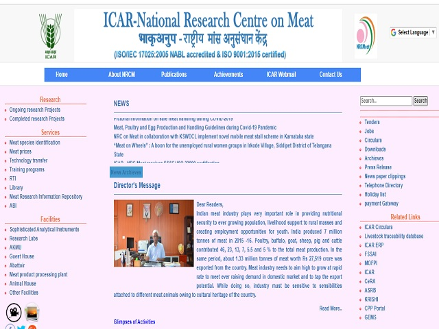ICAR-National Research Centre on meat (NRCM) Recruitment 2019