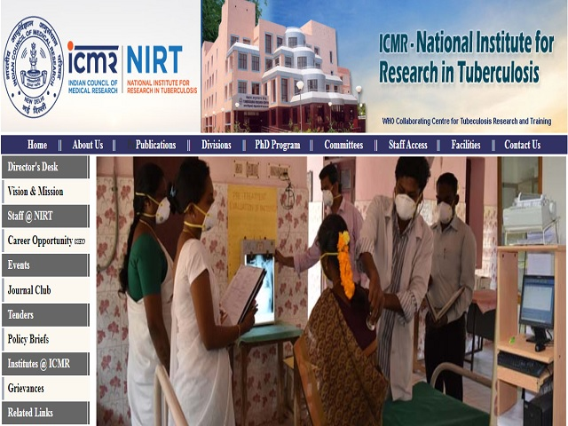 National Institute for Research in Tuberculosis (NIRT) Recruitment 2019
