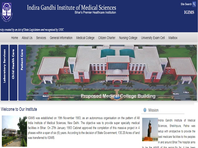 Indira Gandhi Institute of Medical Sciences (IGIMS Patna) Recruitment 2019