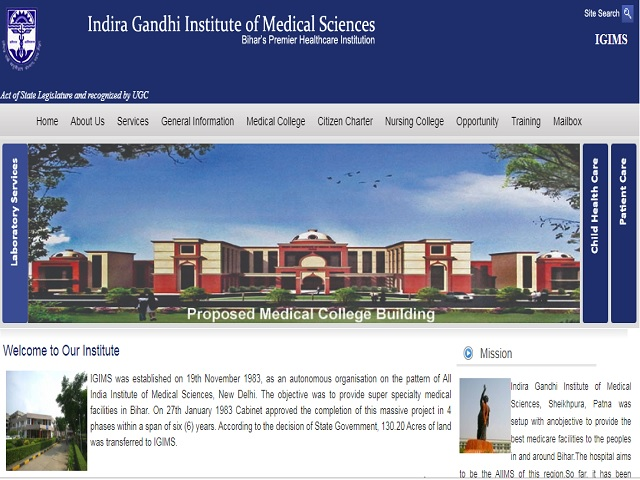 Indira Gandhi Institute of Medical Sciences (IGIMS Patna) Assistant Professor Posts 2019