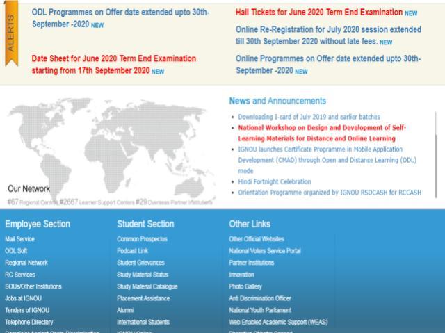 IGNOU July 2020 Registrations