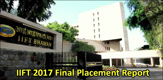 IIFT 2017 Final Placement Report