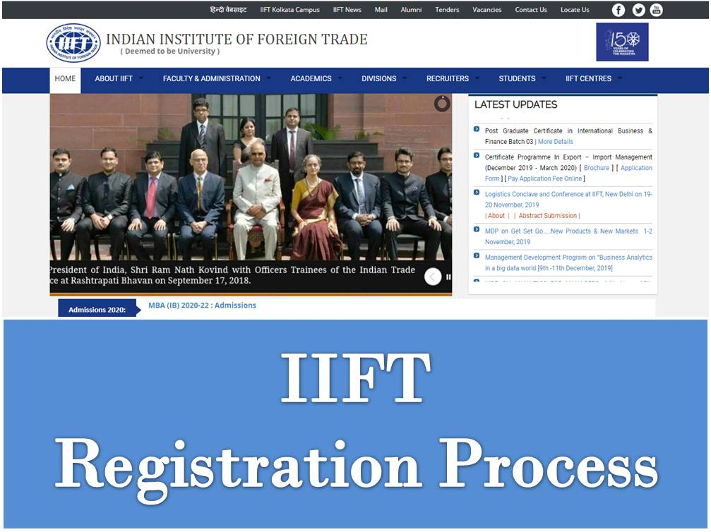 IIFT Registrations Process