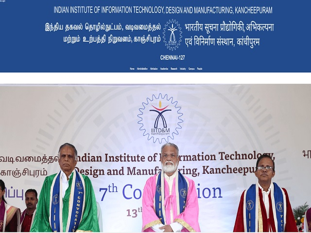 Indian Institute of Information Technology Design and Manufacturing Kancheepuram (IIITDM Kancheepuram) PA Posts 2019