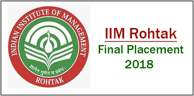IIM Rohtak Final Placement 2018