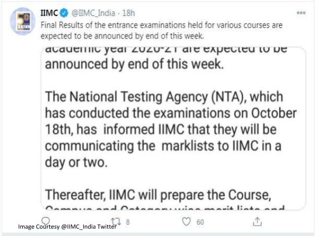 IIMC 2020 Results