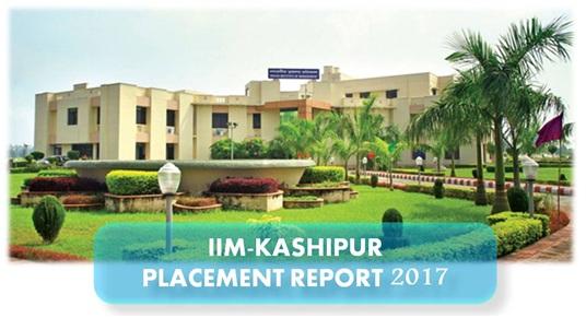 IIM KASHIPUR PLACEMENTS 2017, IIM PLACEMENT REPORT, IIM PLACEMENT 2017