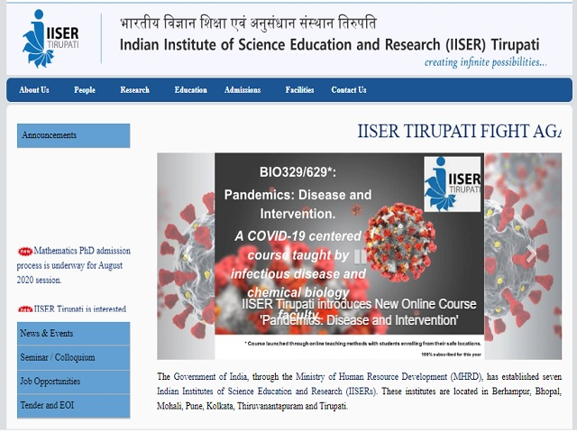 IISER Project Associate-I and Project Assistant Posts