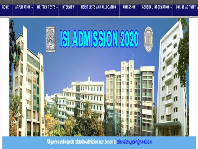 ISI admissions 2020