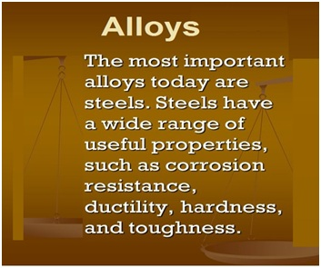 List Of Important Alloys And Their Uses