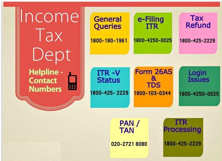 Income tax helpline numbers