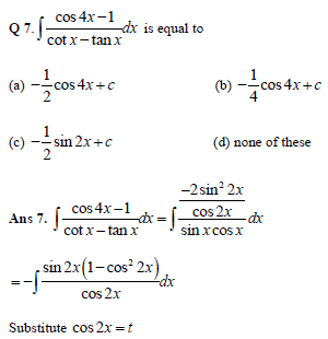 Indefinite Integration practice question