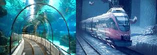 Bullet train will also dive under sea