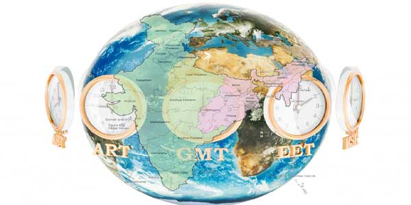 What if India has two Time Zones Globe Time Zones Map on